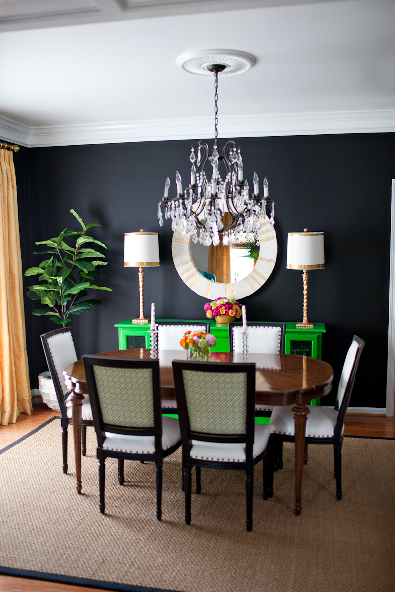 Our dining room kiki 39 s list for Black dining room walls