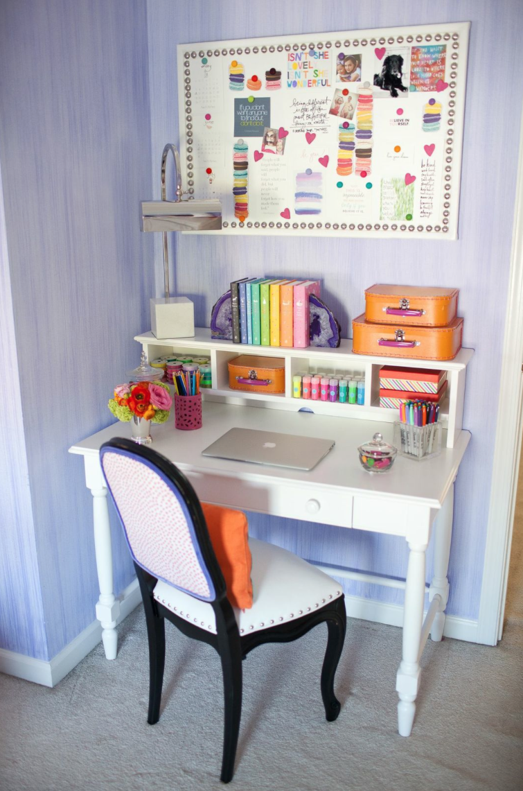 her desk is from land of nod you can read about her chair makeover