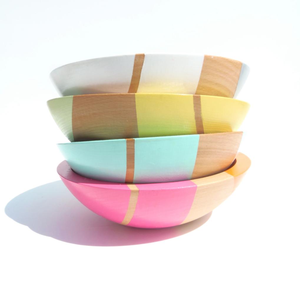 Striped Bowls.