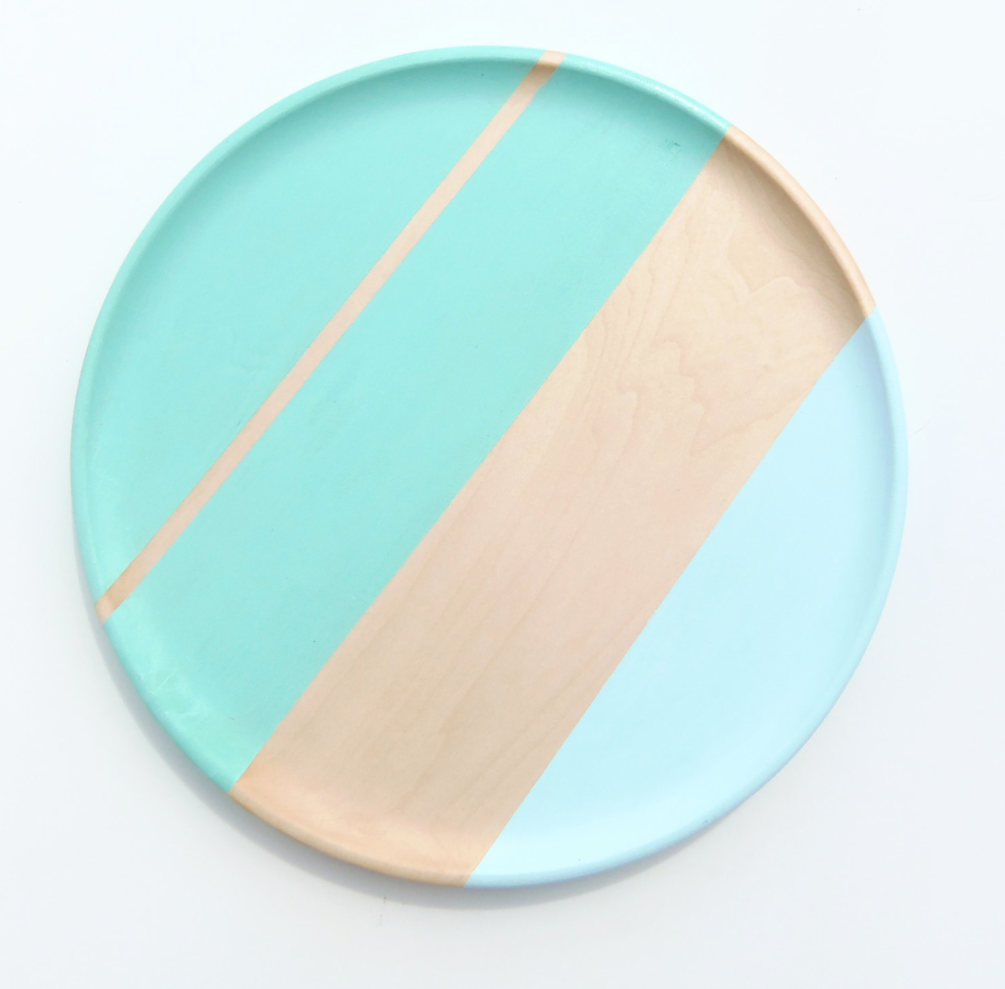 Blue Striped Plates