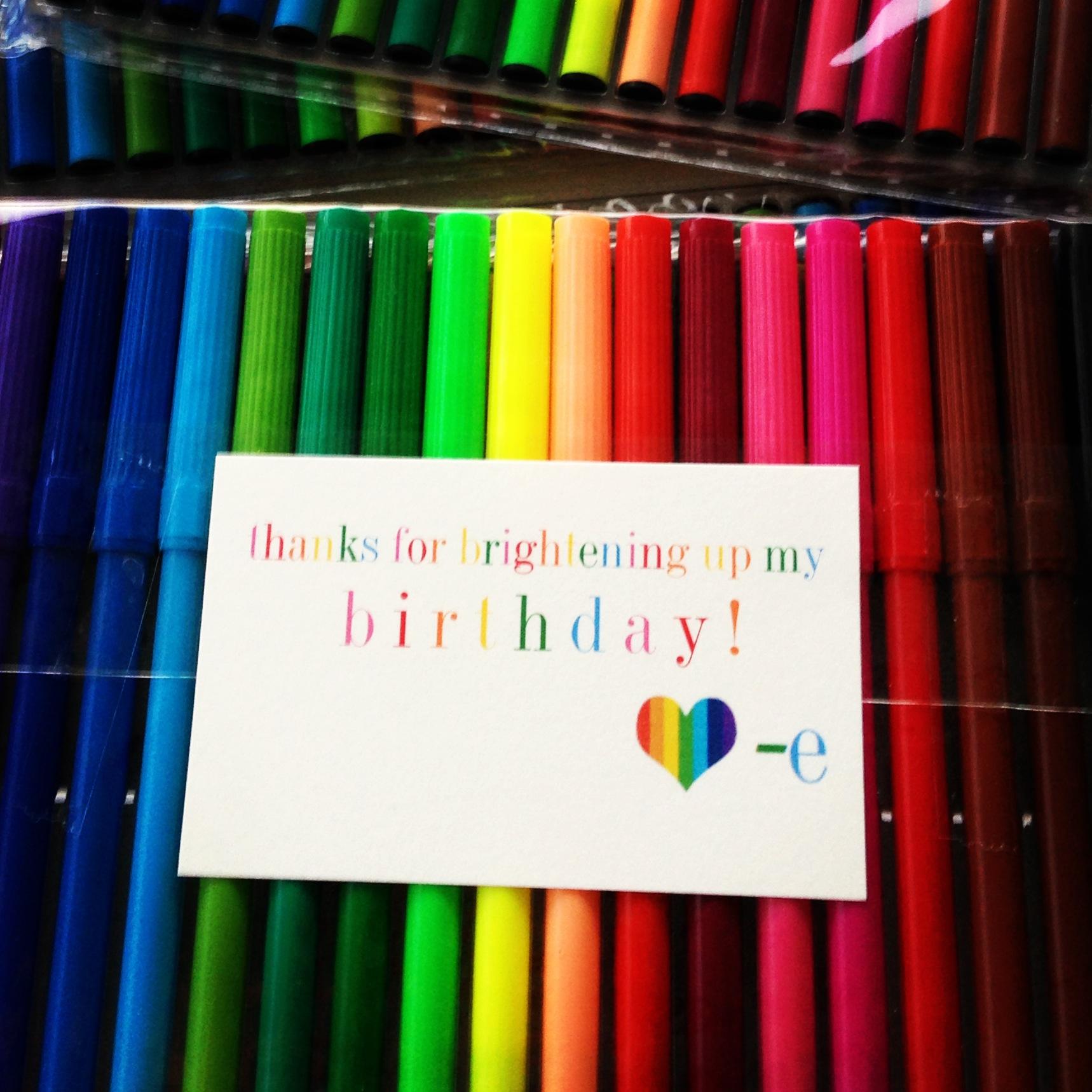 bright birthday free printable