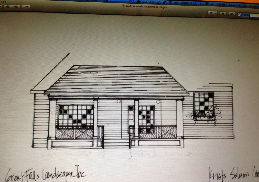 Porch Exterior Drawing