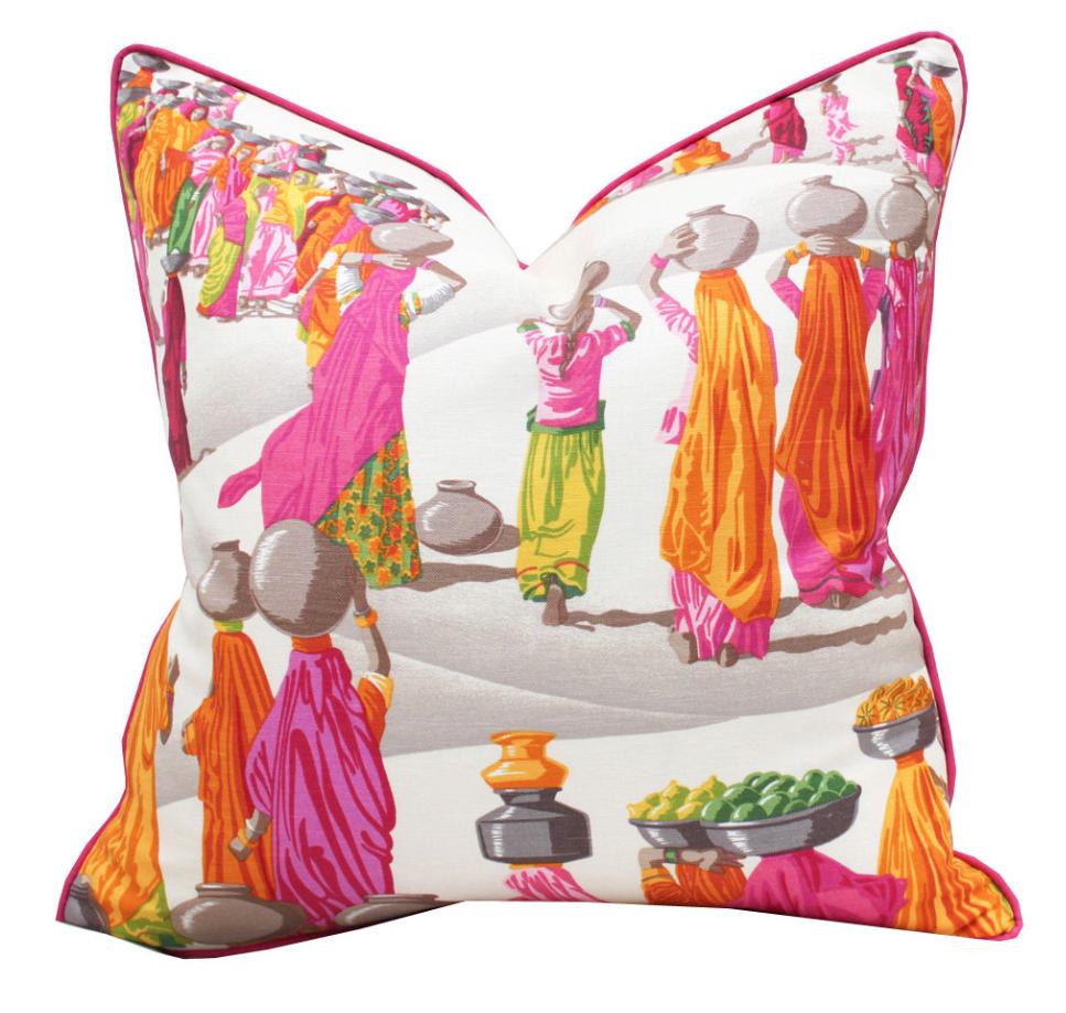 "20"" Sq Manuel Canovas Sari Linen Pillow Cover"