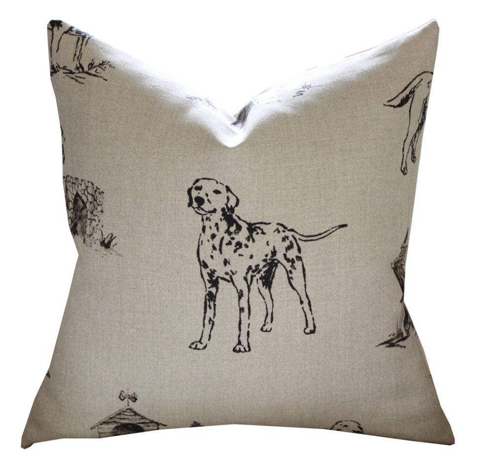 Mulberry Kennel Club Pillow Cover in Natural