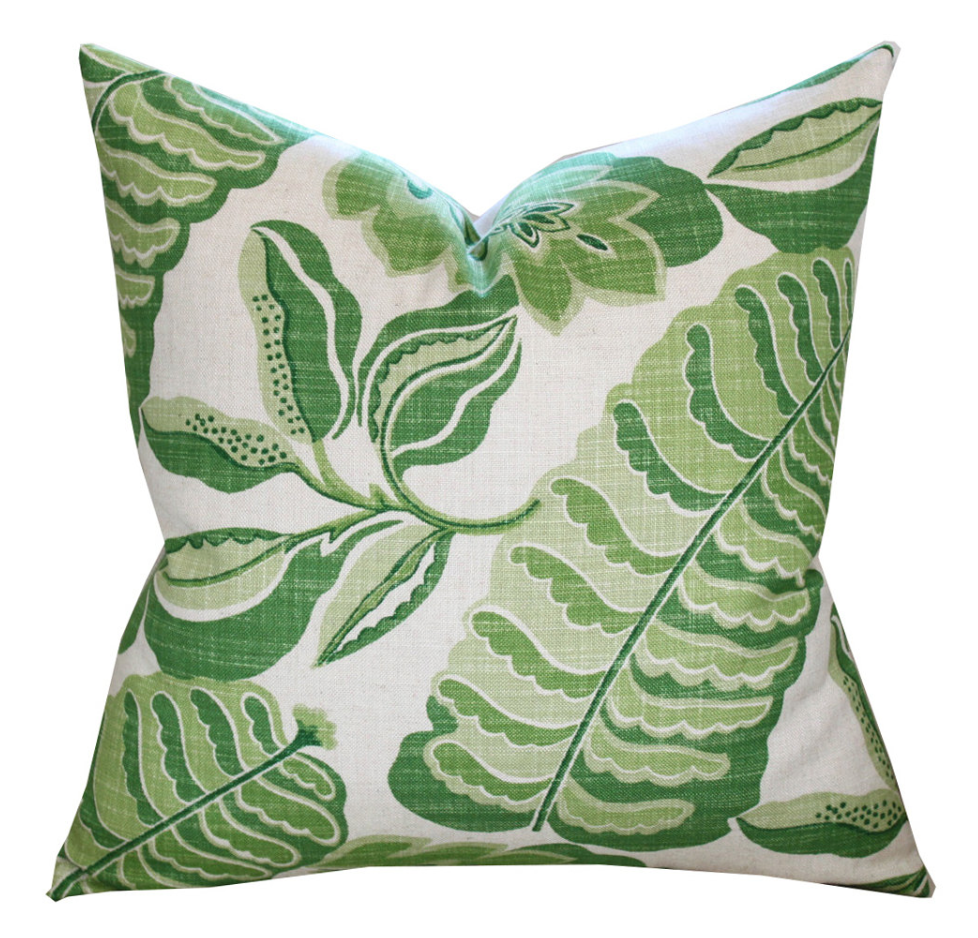 Sanderson Fitzroy Pillow Cover in Green