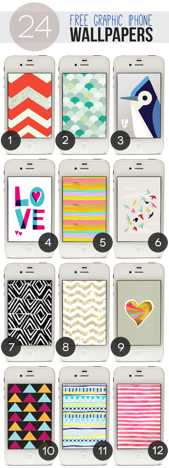 24 Free Graphic iPhone Wallpapers - Part 1