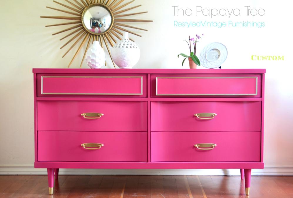 Pink & Gold Dresser