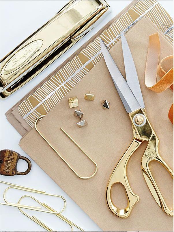 gold office supplies  | kiki's list
