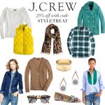 J. Crew 25% off sale.