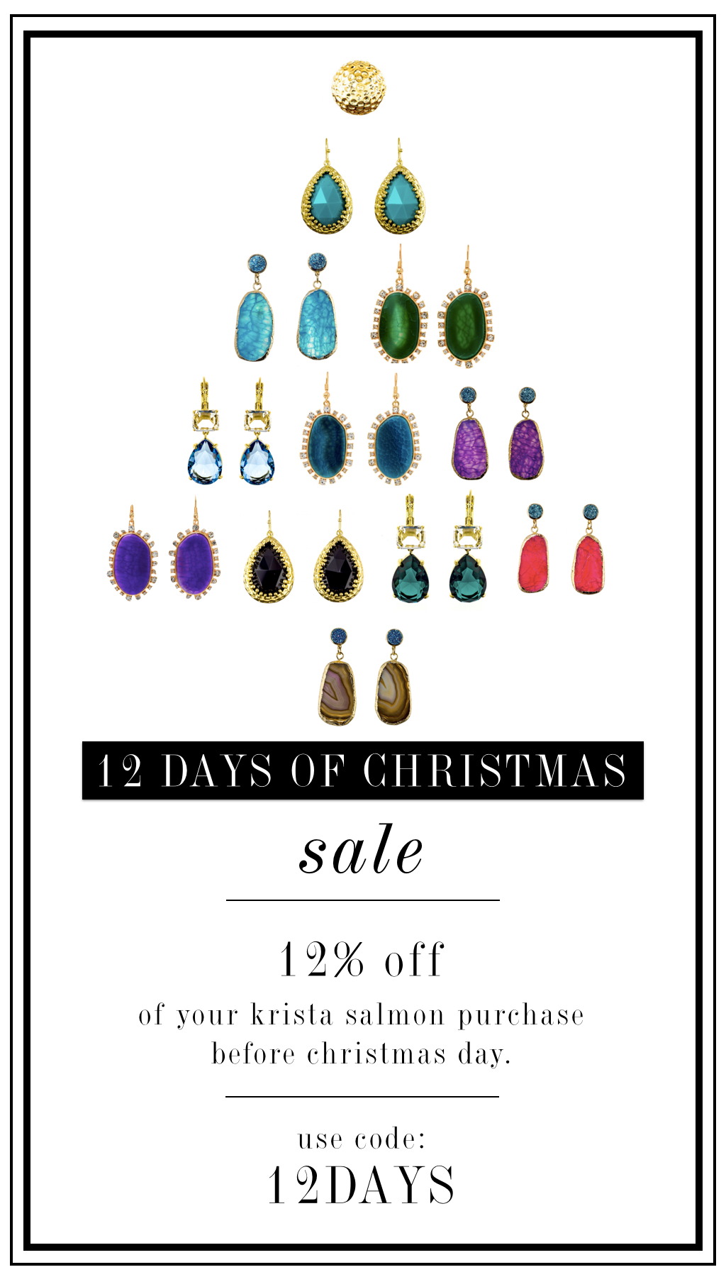 12 % off sale til Christmas day  |  Krista Salmon Jewelry
