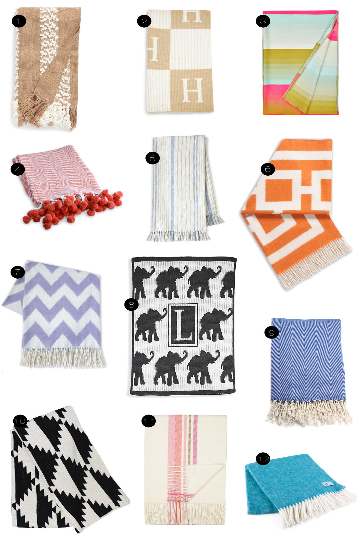 Favorite Throws  |  Kiki's List.