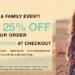 shopbop friends + family sale.