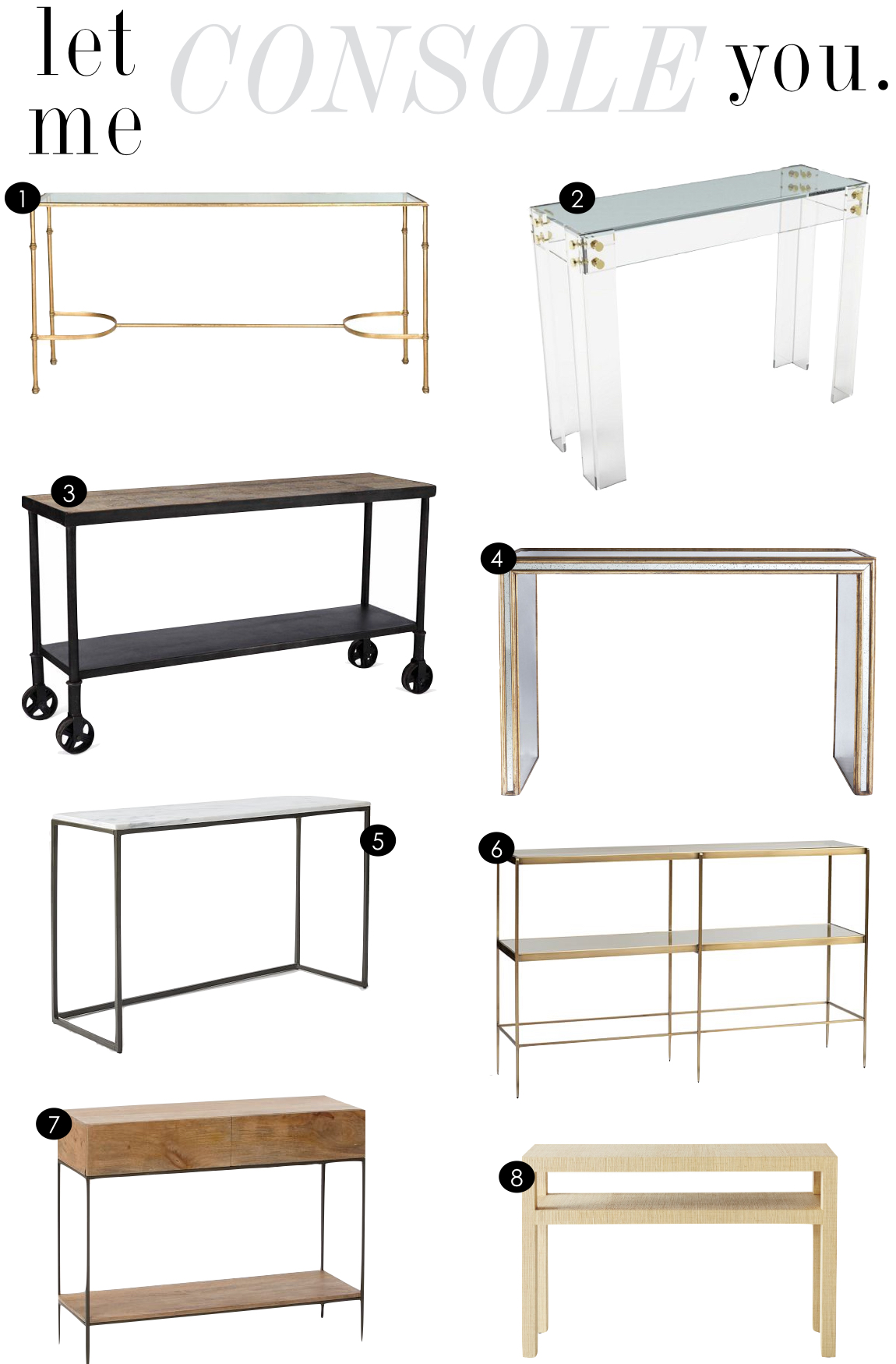 Console Tables | Kiki's List