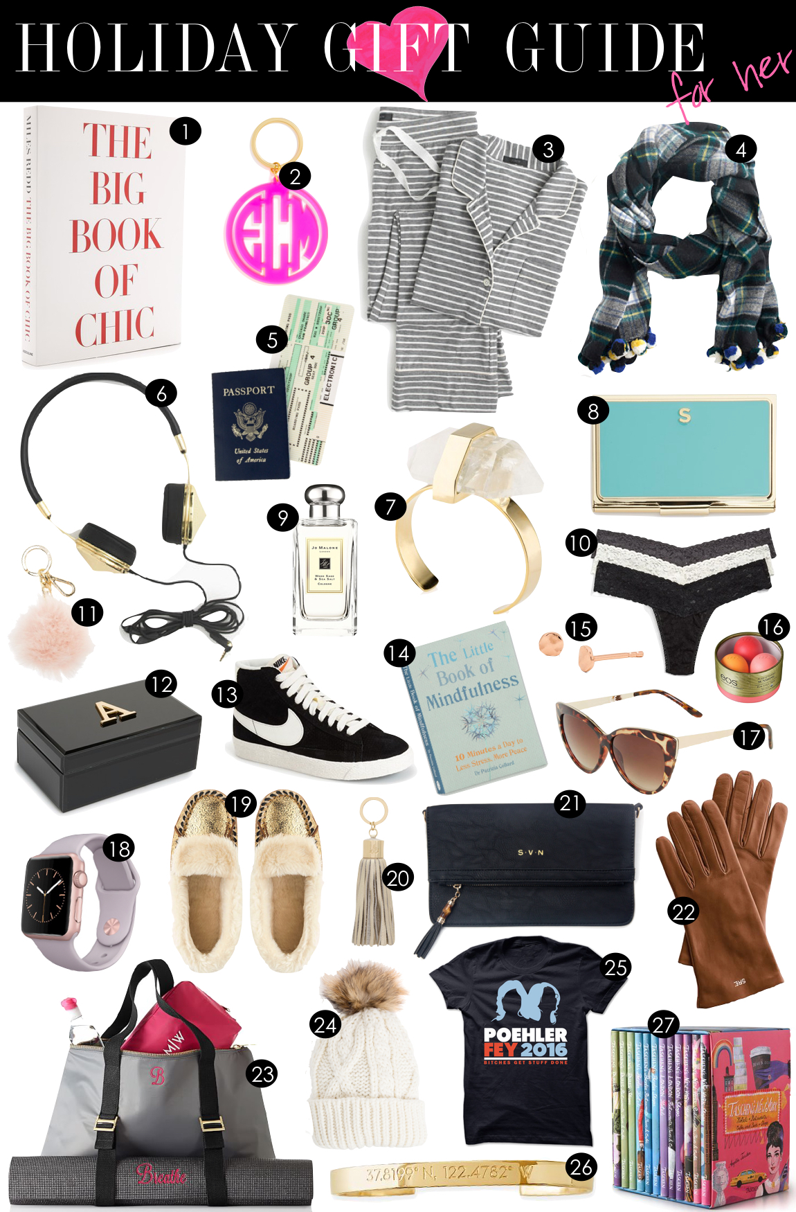holiday gift guide for her kikis list