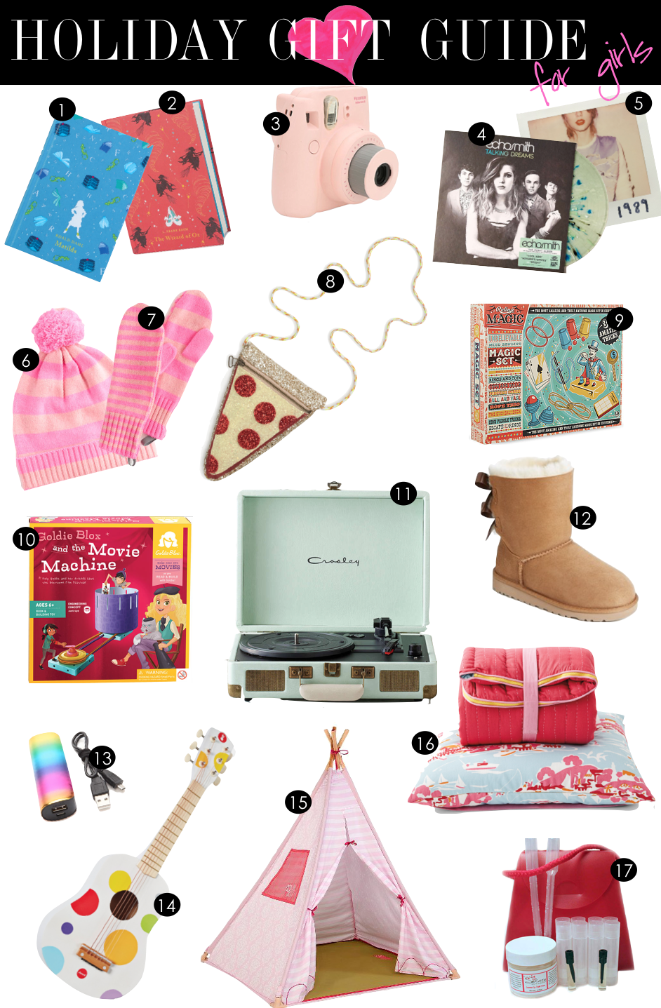 Holiday Gift Guide for Girls  |  Kiki's List