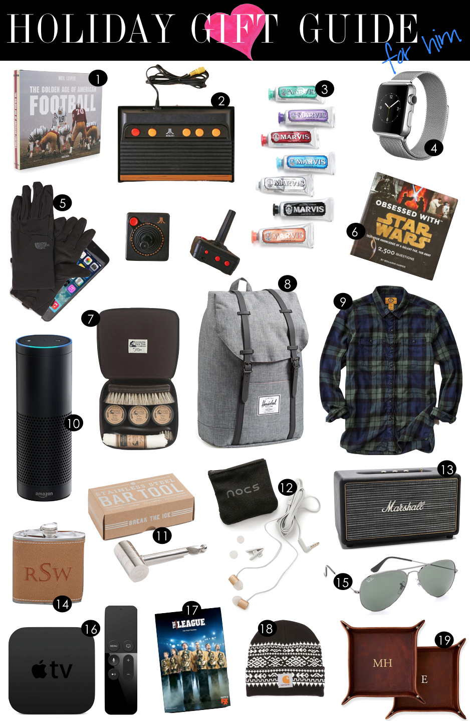 Holiday Gift Guide for Him | Kiki's List