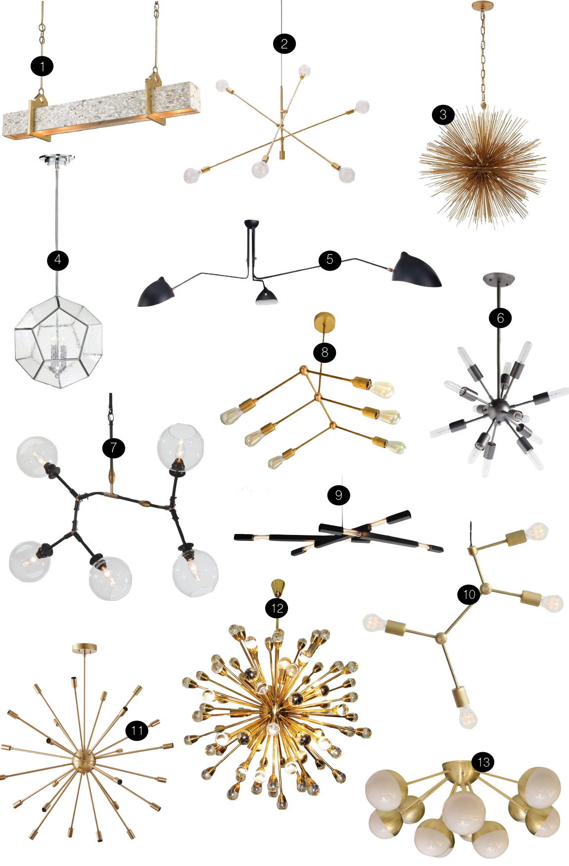 Mid Century Lighting | Kiki's List