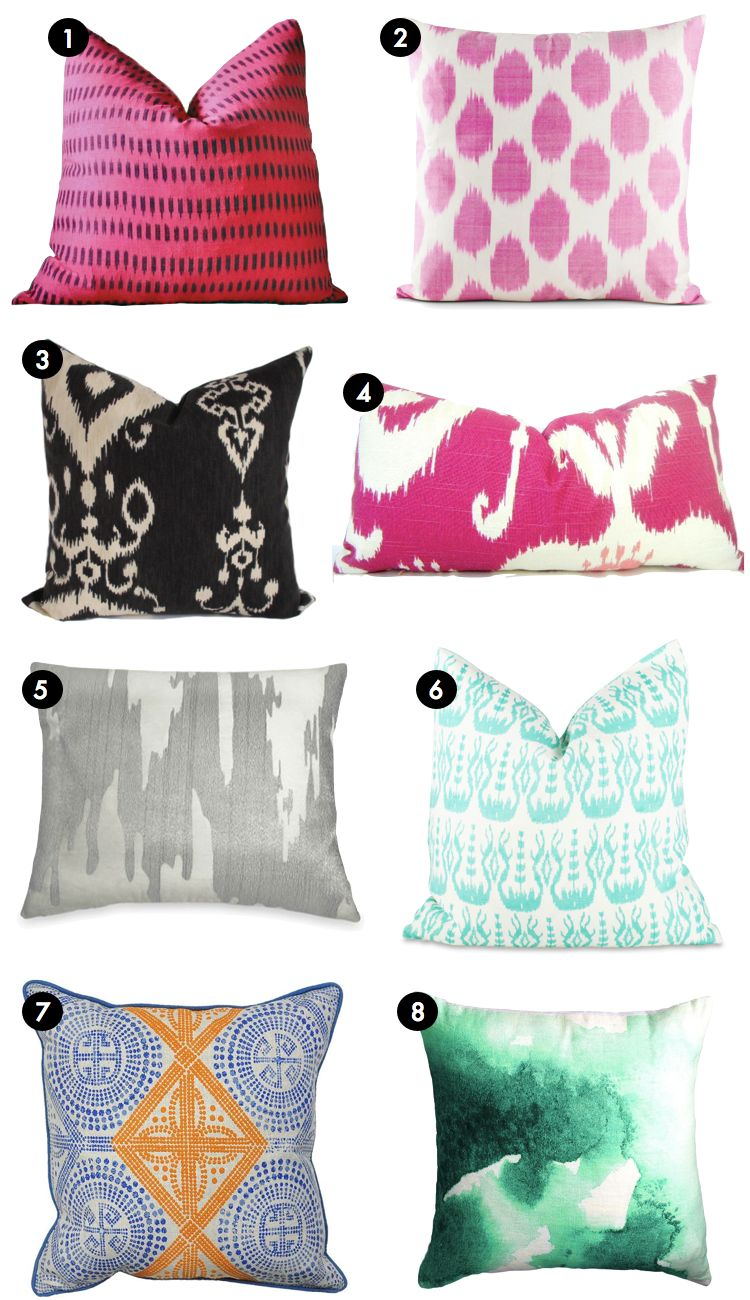 Pretty Printed Pillows | Kiki's List