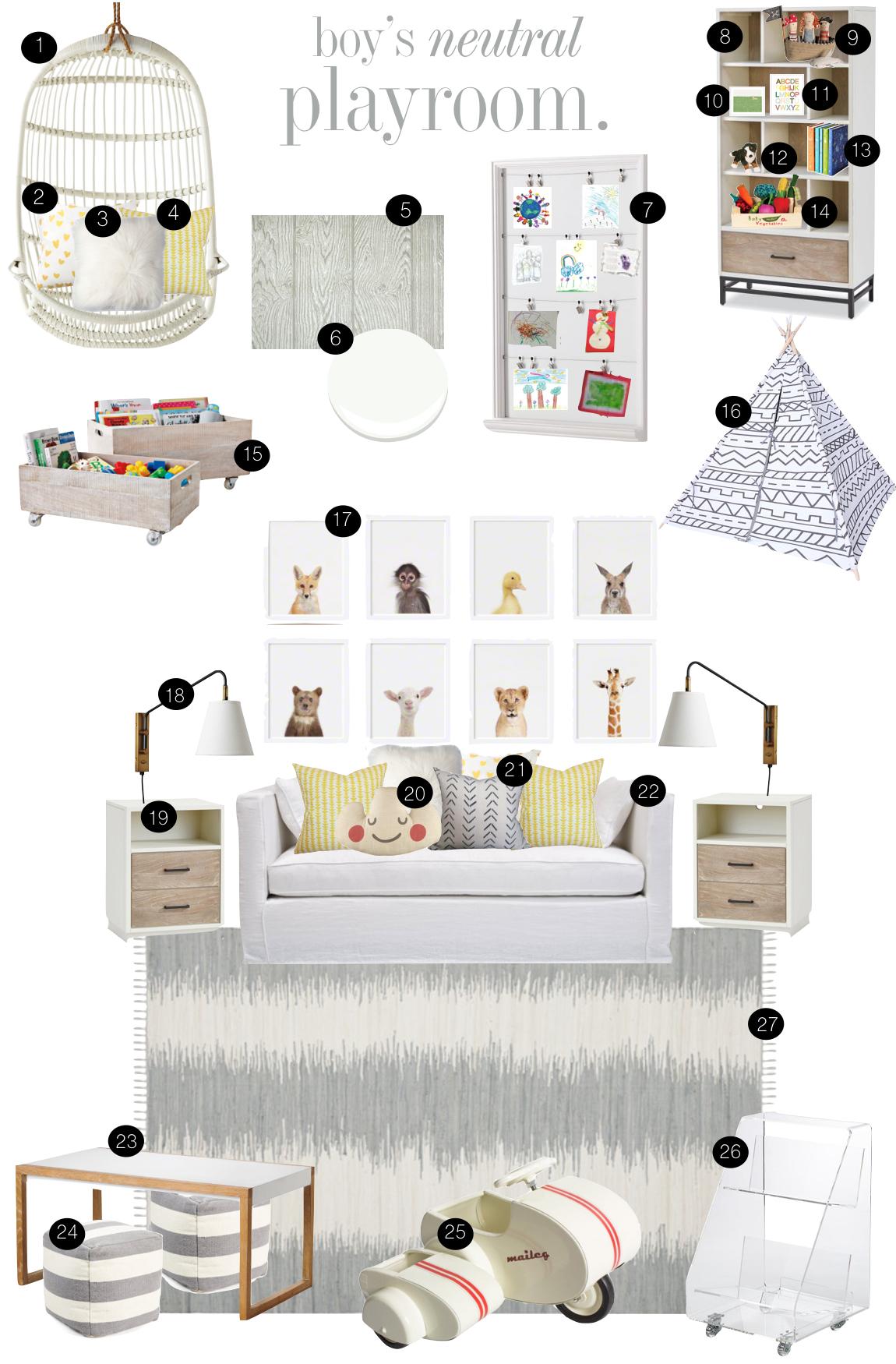 Boy's Neutral Playroom  |  Kiki's List