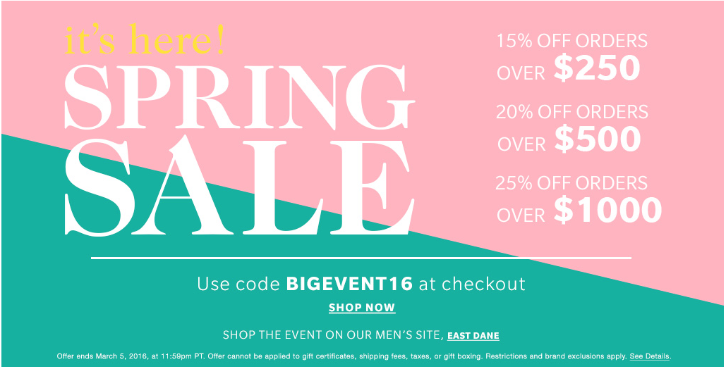 Shopbop Spring Sale  |  Kiki's List