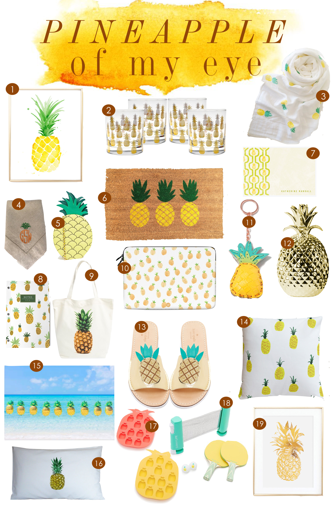 Pineapples  |  Kiki's List