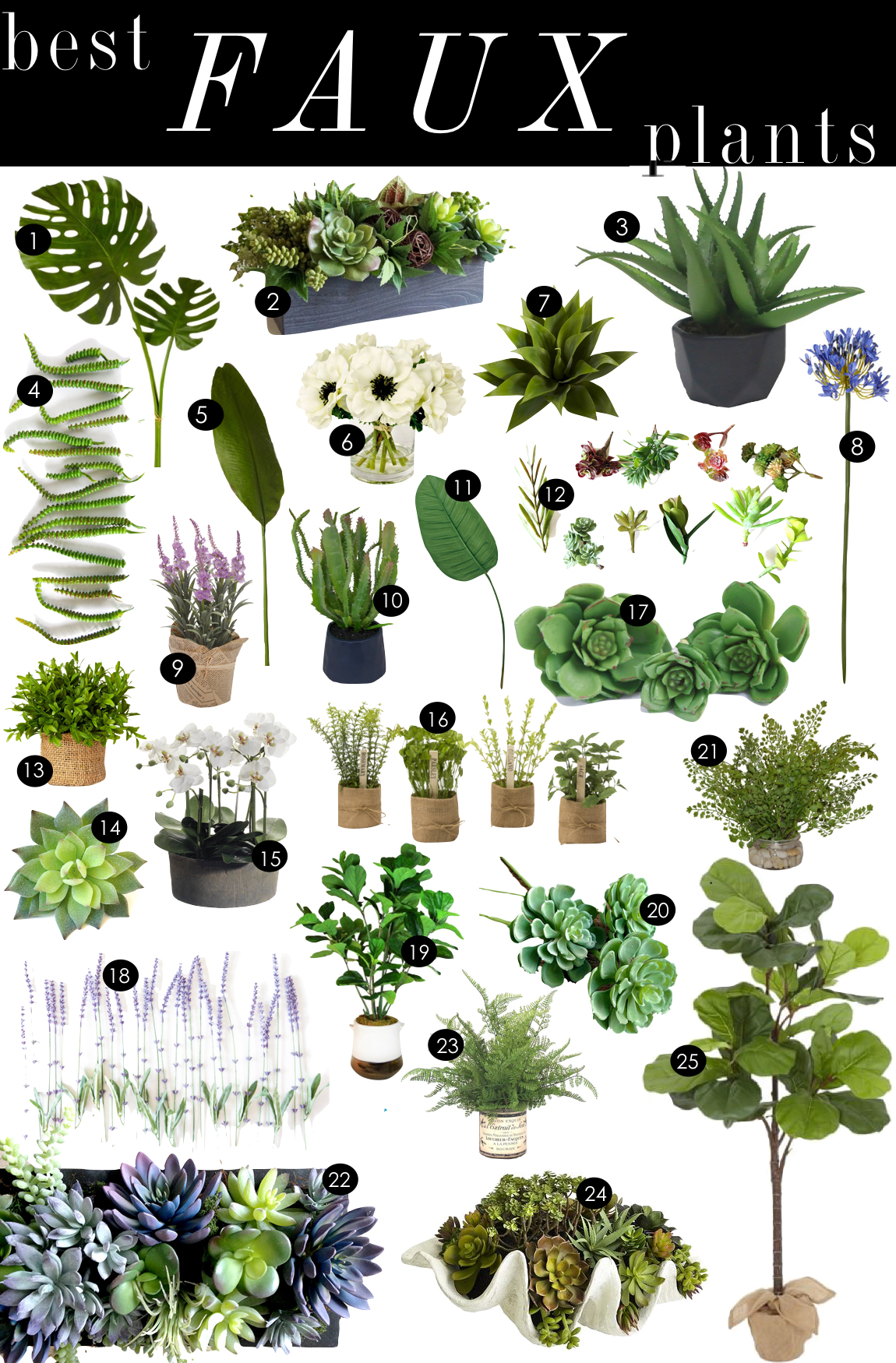Best Faux Plants  |  Kiki's List