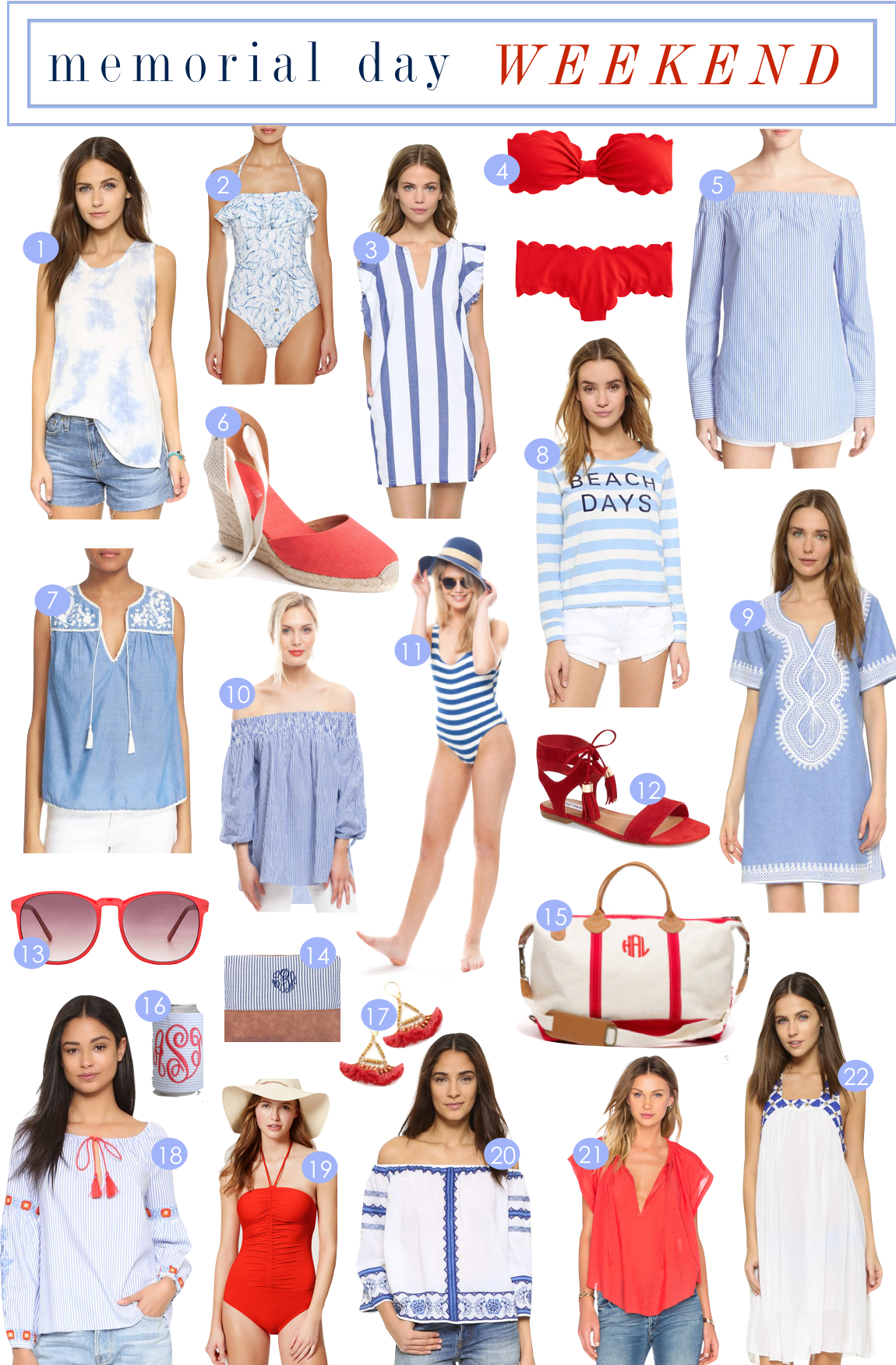 Memorial Day Weekend | Kiki's List