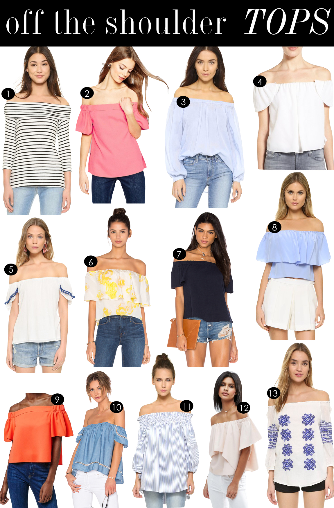 Off the Shoulder Tops | Kiki's List.