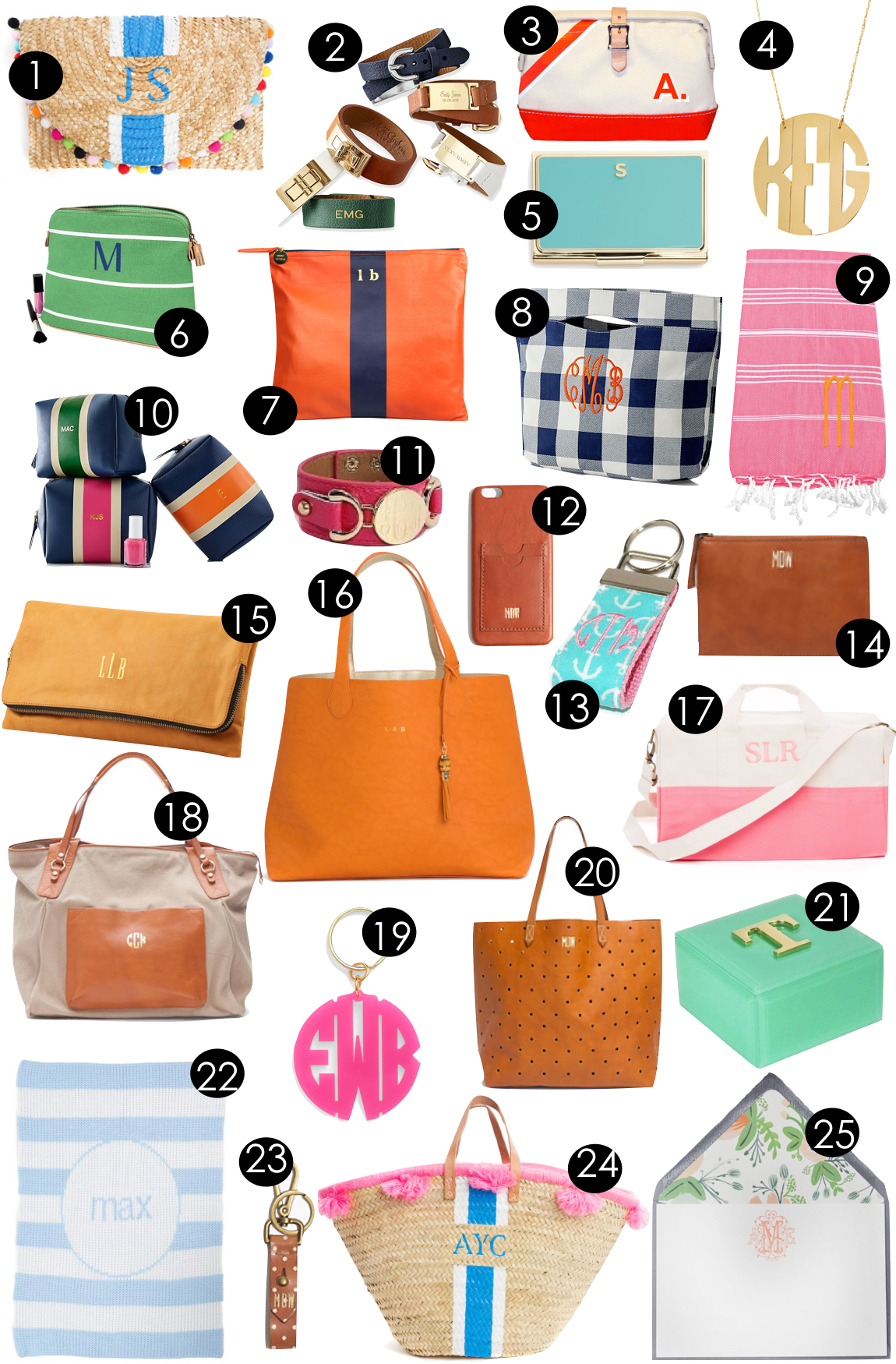 Summer Monograms  |  Kiki's List