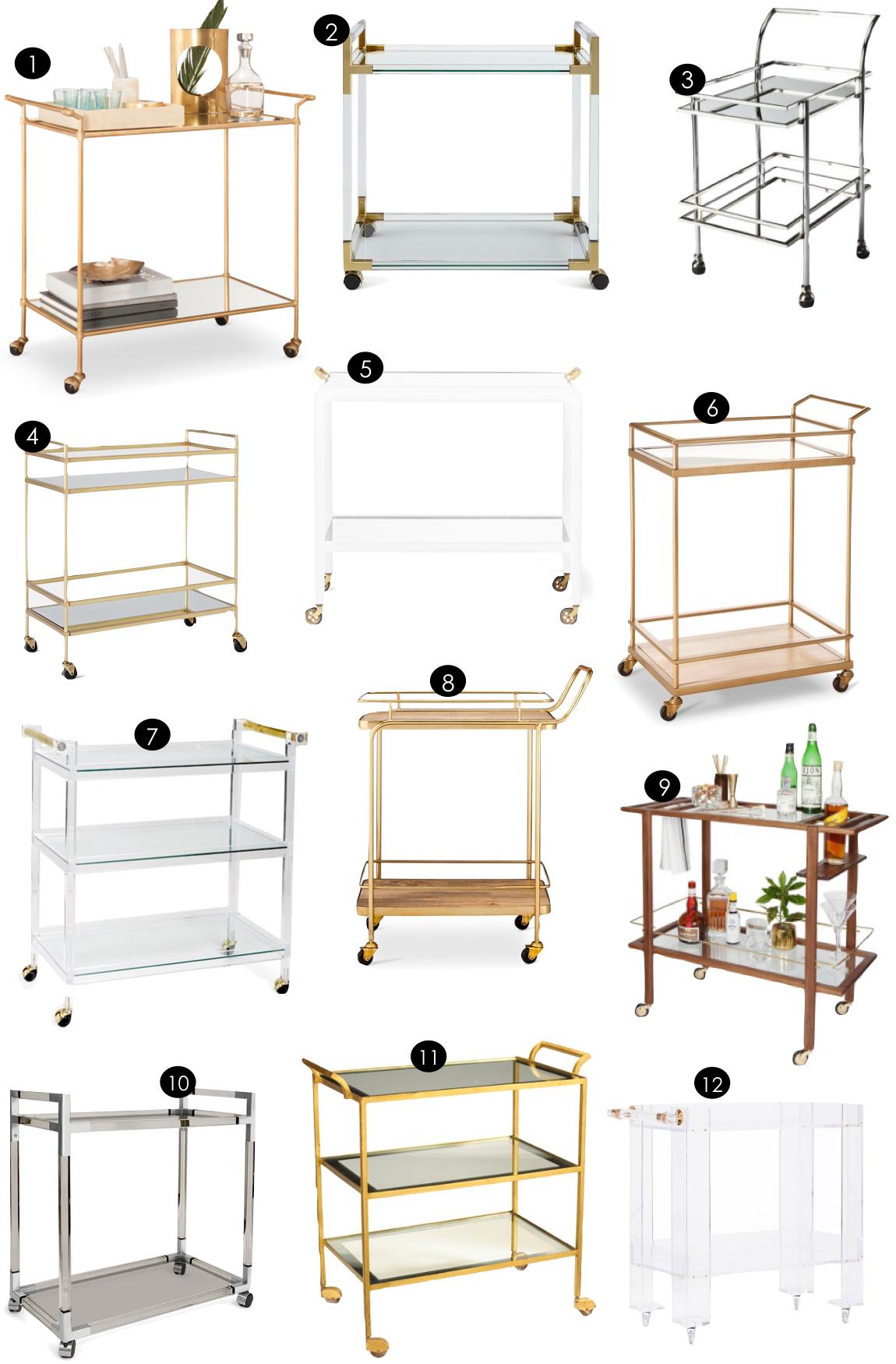 Bar Carts | Kiki's List