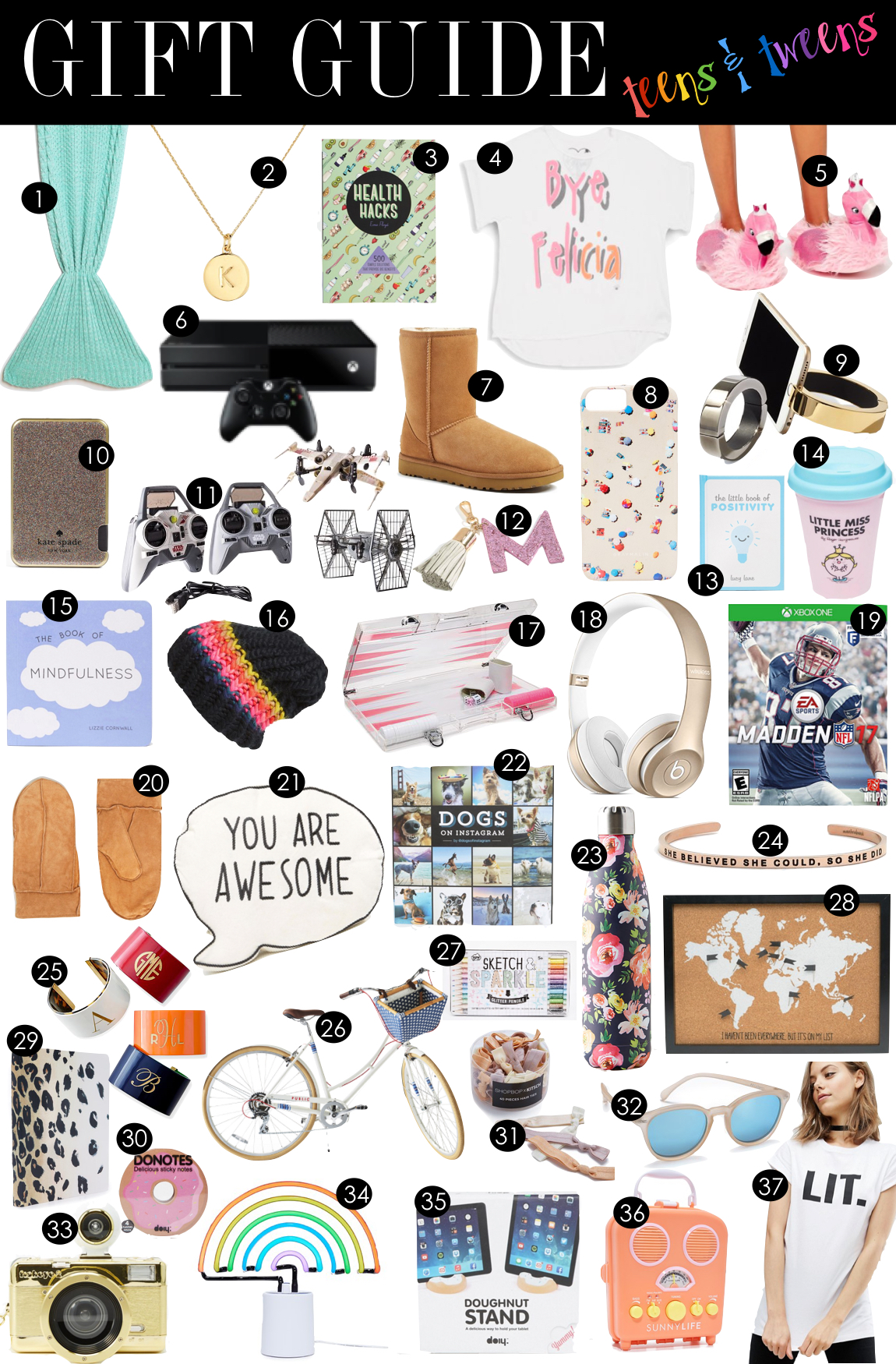 Gift Guide for Teens + Tweens |  Kiki's List