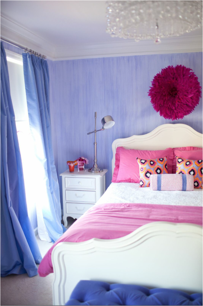 Pink and Purple Girls Bedroom